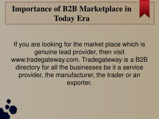 B2B marketplace, Top B2B Company and Trade Suppliers Directory