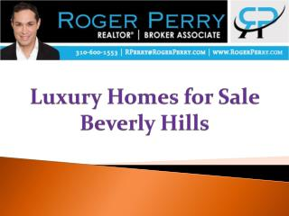 Luxury Homes for Sale Beverly Hills