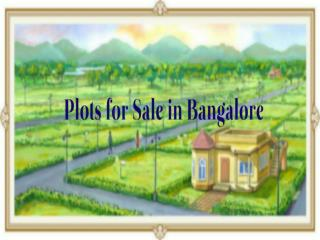 Residential Plots in Bangalore
