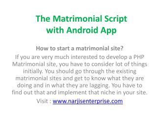 Matrimonial Script in PHP