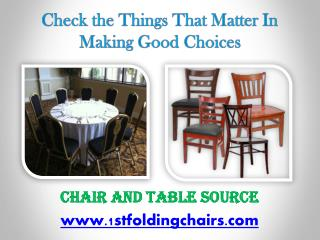 Check the Things That Matter In Making Good Choices