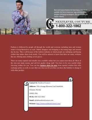 Buy Luxury & Designer Shirt For Men Online