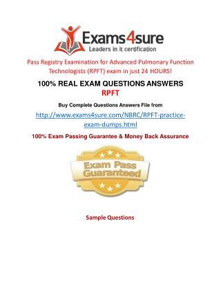 RPFT Exam Questions