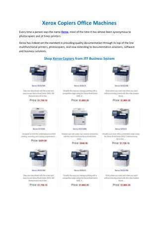 Xerox Copiers Office Machines