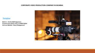Corporate Video Production Company Mumbai