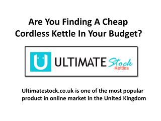 @ www.ultimatestock.co.uk - Get Enjoy A Enormous Cup Of Tea And Coffee through Cordless kettle!
