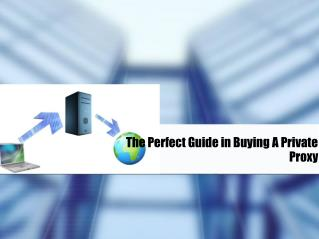 The Perfect Guide in Buying A Private Proxy