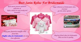 Perfect Waffle Waves Robes For Bridesmaids
