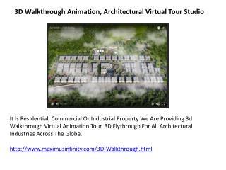 3D Walkthrough Animation, Architectural Virtual Tour Studio