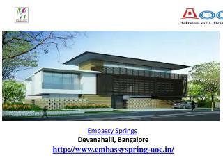Embassy Springs  Devanahalli slideserve.com....