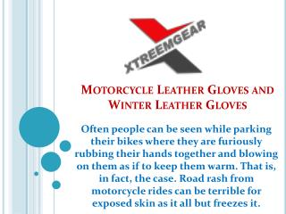 Motorcycle Leather Gloves and Winter Leather Gloves