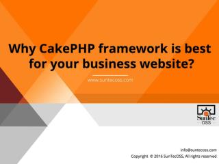 Why CakePHP framework is best for your business website?