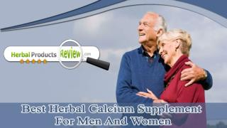 Best Herbal Calcium Supplement For Men And Women