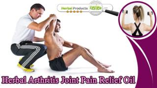 Herbal Arthritis Joint Pain Relief Oil, Muscle Relaxant Oil