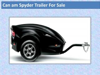 can am spyder trailer for sale