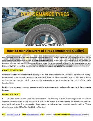 Aeolus Tyre: Best Car, SUV & Truck Manufacturer