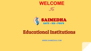 SAIMEDHA GRE | GATE | IES | Training Institute