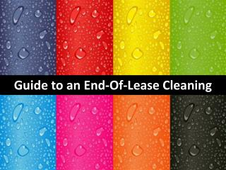 Guide to an End-Of-Lease Cleaning