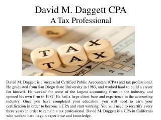 David M. Daggett CPA - A Tax Professional