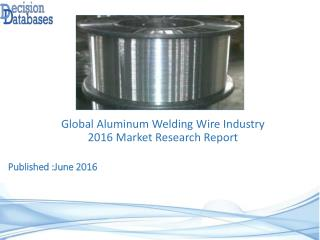Aluminum Welding Wire Market Analysis and Forecasts 2021