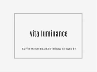 Vita Luminance | Risk Free Trial Offer