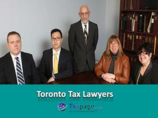Meet the Professional Toronto Tax Lawyers