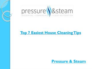 Top 7 Easiest House Cleaning Tips
