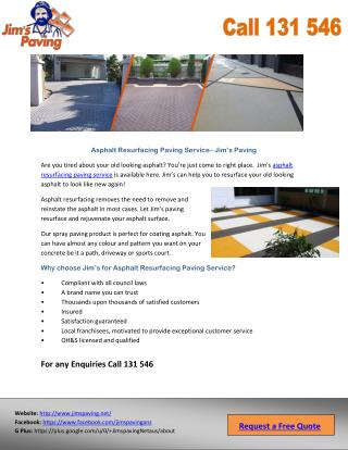 Asphalt Resurfacing Paving Service – Jim's Paving