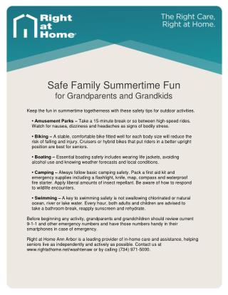 Senior Care & Caregiving Tips: Summer Safety for Grandkids and Seniors