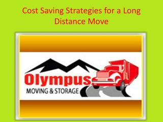 Cost Saving Strategies for a Long Distance Move