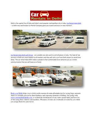 Car Rental India Delhi with Driver