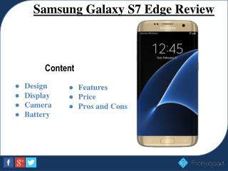 Samsung Galaxy S7 edge- Full Specifications, Features and Price