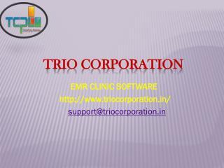 EMR Clinic Software: TRIO Corporation