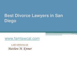 Best Divorce Lawyers in San Diego - www.famlawcal.com