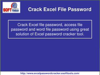 Excel Password Cracker to crack Excel password and recover Excel password