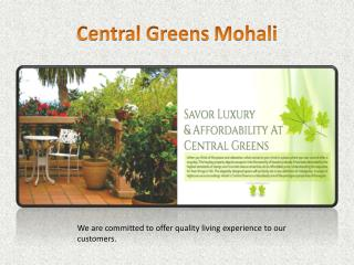Central Greens Mohali