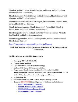 MobileX Review & MobileX $16,700 bonuses