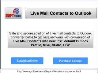 Windows Live Mail Contacts Converter Tool