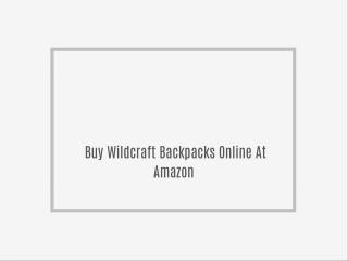 Buy Wildcraft Backpacks Online At Amazon