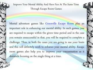 Amazing Greenville Escape Room Game