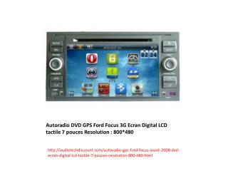 Autoradio GPS Ford Crown Victoria DVD Ecran Digital LCD tactile 7 pouces Iphone TNT