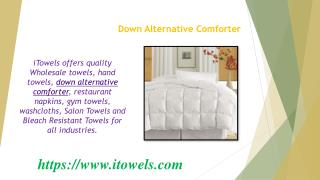Down Alternative Comforter - Bedding
