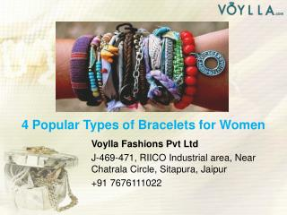4 Popular Types of Bracelets for Women