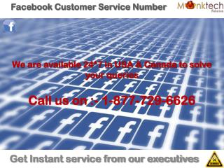 For any help dial facebook customer service number 1-877-729-6626