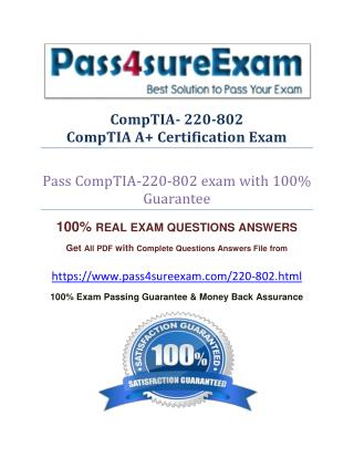 Pass4sure 220-802 Exam
