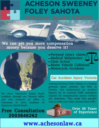 Hire Best Car Accident Injury Claim Lawyer in Victoria