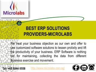 Best ERP Software Providers In Singapore