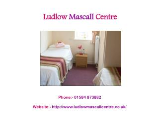 Comfortable and Furnished Rooms at Ludlow Mascall Centre