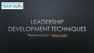 Leadership Development Techniques