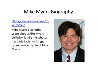 Mike Myers Biography | Biography Of Mike Myers
